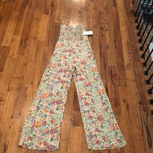 ZARA NWT Floral Jumpsuit
